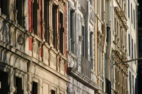 Fassaden in der Schneiderstraße